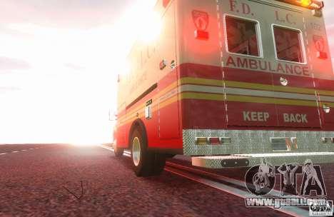 Ford F350 FDLC Ambulance v3.0 ELS for GTA 4 back left view