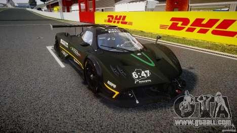 Pagani Zonda R 2009 for GTA 4 back view