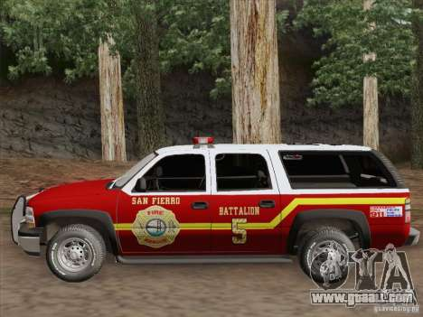 Chevrolet Suburban SFFD for GTA San Andreas inner view