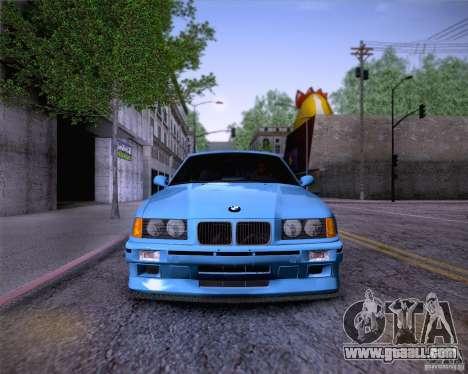 BMW M3 E36 1995 for GTA San Andreas engine