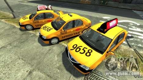 Dacia Logan Prestige Taxi for GTA 4 inner view