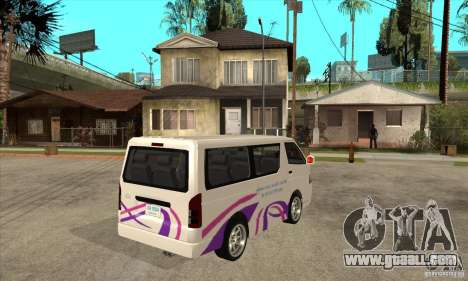 Toyota Hiace for GTA San Andreas inner view