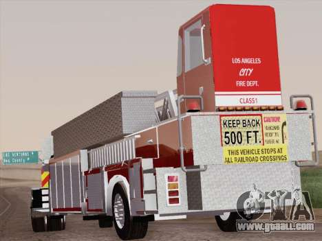 Pierce Arrow XT LAFD Tiller Ladder Trailer for GTA San Andreas