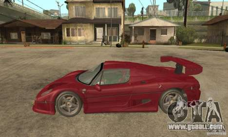 Ferrari F50 GT (v1.0.0) for GTA San Andreas left view