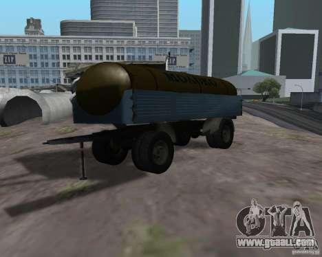 Trailer for Kamaz 53212 milk tanker for GTA San Andreas