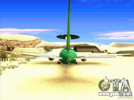 Boeing E-767 for GTA San Andreas back left view
