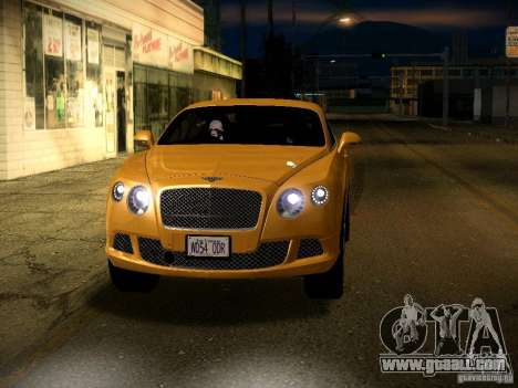 Bentley Continental GT 2011 for GTA San Andreas upper view