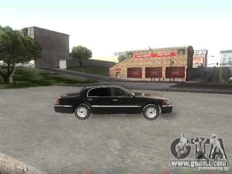 Lincoln Town car sedan for GTA San Andreas left view