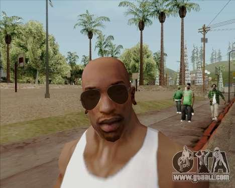 Brown glasses Aviators for GTA San Andreas fifth screenshot