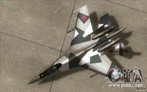 Su-35 BM v2.0 for GTA San Andreas inner view