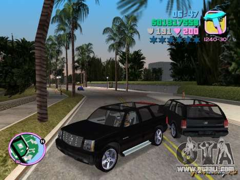 Cadillac Escalade for GTA Vice City left view