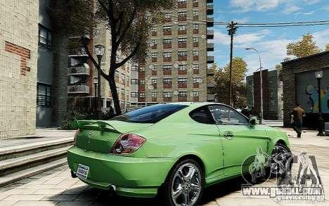 Hyundai Tuscani for GTA 4 back left view