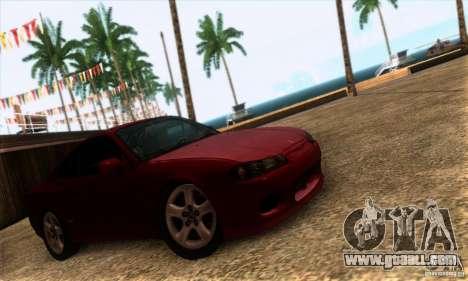 Nissan Silvia S15 Tunable for GTA San Andreas back left view