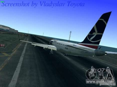 Embraer ERJ 190 LOT Polish Airlines for GTA San Andreas back left view