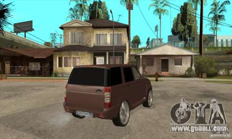 UAZ Patriot for GTA San Andreas back view