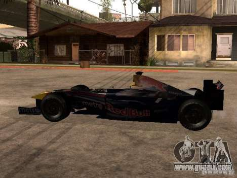 F1 Red Bull Sport for GTA San Andreas left view