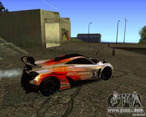 Pagani Huayra SHE for GTA San Andreas back left view