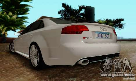 Audi RS4 2007 for GTA San Andreas back view