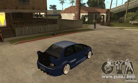 Mitsubishi Lancer 2006 Tuned for GTA San Andreas right view
