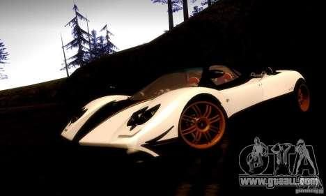 Pagani Zonda Tricolore V2 for GTA San Andreas back left view
