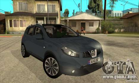Nissan Qashqai 2011 for GTA San Andreas back view