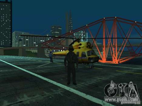 MI-2 Police for GTA San Andreas back view