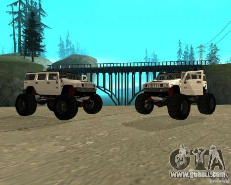 Hummer H2 MONSTER for GTA San Andreas right view