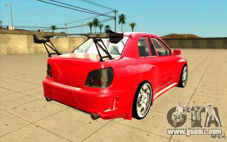 Subaru Impreza STI for GTA San Andreas side view