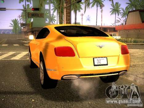Bentley Continental GT 2011 for GTA San Andreas left view