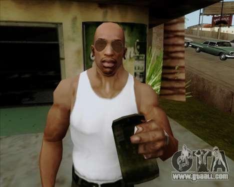 Brown glasses Aviators for GTA San Andreas sixth screenshot