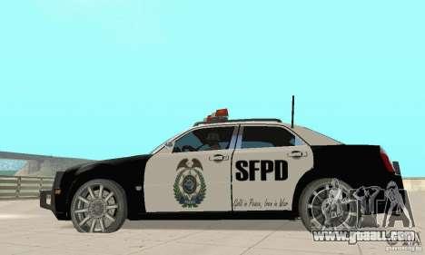 Chrysler 300C Police v2.0 for GTA San Andreas left view