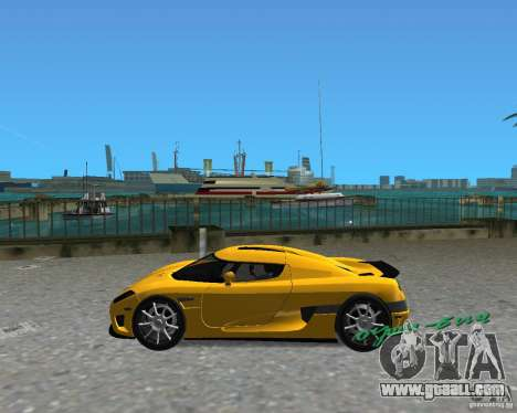 Koenigsegg CCX for GTA Vice City back left view
