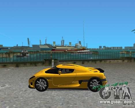 Koenigsegg CCX for GTA Vice City back left view
