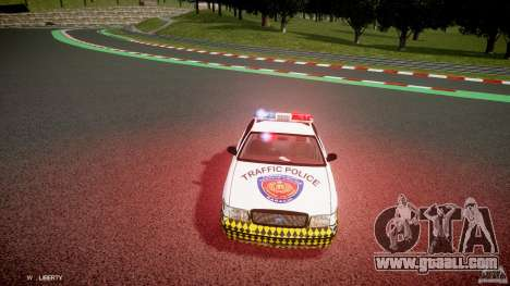 Ford Crown Victoria Karachi Traffic Police for GTA 4 inner view