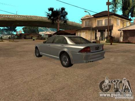Schafter of Gta 4 for GTA San Andreas left view