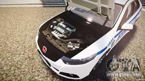 Honda Accord Type R NYPD (City Patrol 7605) ELS for GTA 4 bottom view
