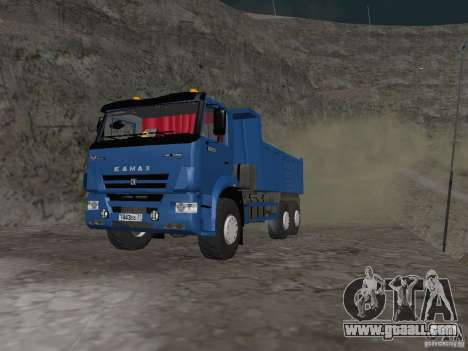 KAMAZ 65222 for GTA San Andreas left view