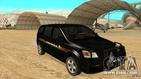 Dodge Caravan Sheriff 2008 for GTA San Andreas back view