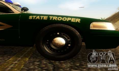 Ford Crown Victoria New Hampshire Police for GTA San Andreas right view