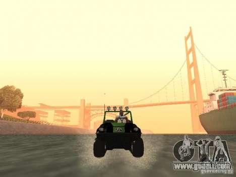 All-Terrain Vehicle Argo Avenger for GTA San Andreas back view