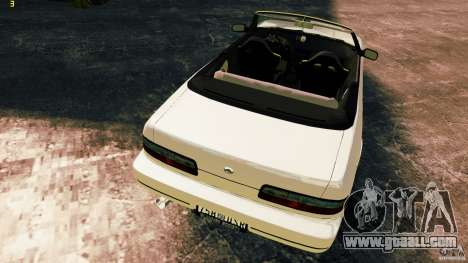Nissan Silvia S13 Cabrio for GTA 4 inner view