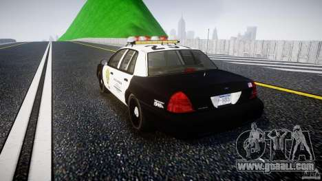 Ford Crown Victoria Raccoon City Police Car for GTA 4 back left view