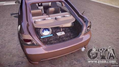 Toyota Scion TC 2.4 Tuning Edition for GTA 4 bottom view