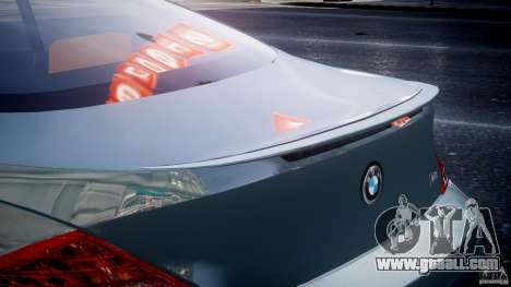 BMW M6 G-Power Hurricane for GTA 4 interior