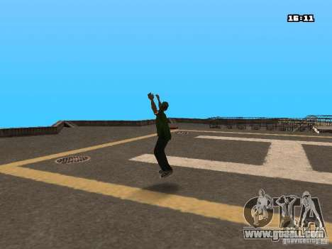 Parkour Mod for GTA San Andreas second screenshot