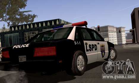 New Police LS for GTA San Andreas back view