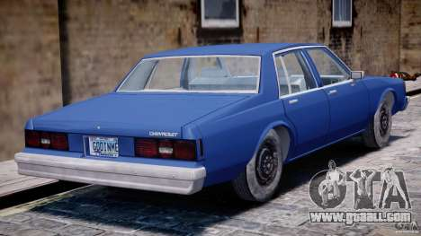 Chevrolet Impala 1983 [Final] for GTA 4 bottom view