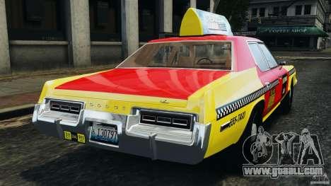 Dodge Monaco 1974 Taxi v1.0 for GTA 4 back left view