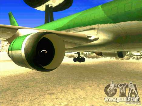 Boeing E-767 for GTA San Andreas back view