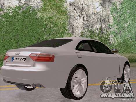 Audi S5 for GTA San Andreas right view